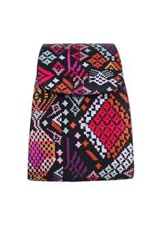 Bolsa con diseño Tejido Maya en color negro