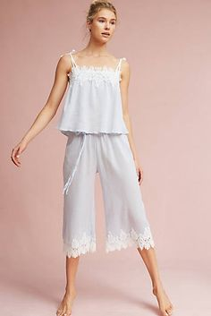 Now, there are basically two options here: cute, flirty pajamas that are also insanely comfortable, or the full Golden Girls caftan experience. Cute Sleepwear, Sleepwear Women, Girls Pajamas, Pajamas Women, Flirty Pajamas, Abaya Fashion, Fashion Outfits, Womens Fashion, Night Dress For Women