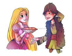 Rapunzel and Hiccup baking :)