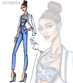 Hayden Williams Fashion Illustrations | Happy Birthday Zendayaby Hayden Williams