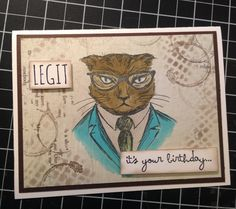 Tim Holtz Hipster. These characters crack me up!