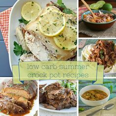 Low Carb Crock Pot Recipes Perfect for Summer! LCHF Banting Keto Dinners