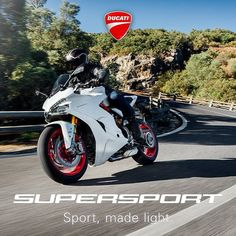 SuperSport takes the energy and excitement of sport wherever it goes. From weekend roads to those of the everyday, via winding out-of-town paths: whatever your route, get ready to experience it in a new light. #SportMadeLight #Ducati2017 #Ducati #DucatiBikes Find out more on: supersport.ducati.com / SuperSport porta ovunque l'energia e le emozioni dello sport. Dalle strade del weekend a quelle di tutti i giorni, passando per le curve fuori città: qualunque sia il vostro percorso…