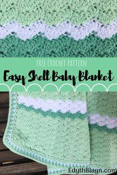 Easy Crochet Shell Baby Blanket The Easy Shell Baby Blanket works u. Easy Crochet Shell Baby Blanket The Easy Shell Baby Blanket works up quickly and makes a pretty textured bl. Crochet Shell Blanket, Crochet Baby Blanket Free Pattern, Crochet Shell Stitch, Free Crochet, Crochet Blankets, Crochet Baby Afghans, Crochet Baby Stuff, Baby Granny Square Blanket, Baby Afghan Patterns
