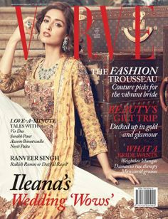 Ileana's wedding vows: cover of Verve September 2013