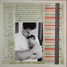 How Blessed Baby Scrapbooking Idea