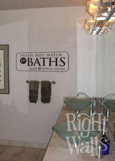 Bathroom Vinyl - Guest bathroom saying!