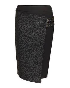 Zwarte rok met luipaardprint Dolce Vita | Kennedy Fashion