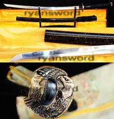 HIGH QUALITY 1095 CARBON STEEL CLAY TEMPERED JAPANESE SAMURAI KATANA SWORD