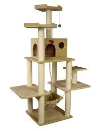 New Cat Tree Beige House Bed Furniture Post Kitty Scratcher Toy Tower Unit Wood Pet Supplies. Fashion is a popular style Tree Furniture, Condo Furniture, Furniture Ideas, Modern Furniture, Cat Tree Condo, Cat Condo, Cool Cat Trees, Cool Cats, Hamsters