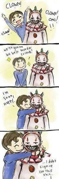 """Dandy and Twisty from """"American Horror Story: Freak Show"""" - whoever made this is my hero"""
