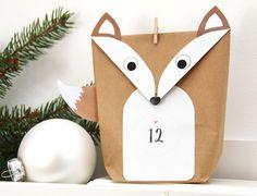 Adventskalender - Adventskalender Füchse DIY WEIß für Männer Kinder - ein Designerstück von einfachschoen-shop bei DaWanda