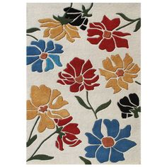 This beautiful rug from Alliyah is made of elegant New Zealand blend wool. This handmade rug features a bold, colorful pattern.