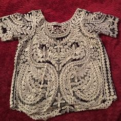 Gold sparkle and lace Brandy Melville top This is an adorable top. NWOT. Ask me any questions! Brandy Melville Tops Tees - Short Sleeve