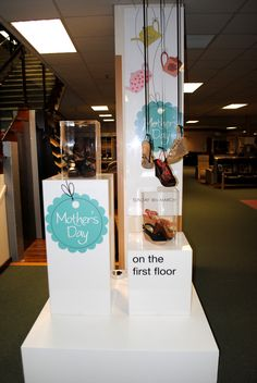 // display // visual merchandising // mothers day display // 2012 // shoes // shoe display