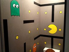 Pac-Man decorations | ToiletZone - La décoration de vos toilettes style : Pac Man