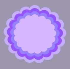 Free SVG - Scalloped circles