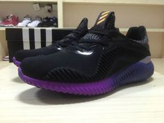 competitive price e8bbb a9d7a Acheter Adidas Alphabounce 330 B42351 Core Black Noir Gradient Purple  Violet Adidas Boost, Popular Sneakers