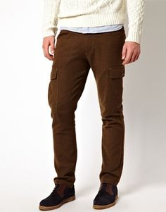 ASOS Wool Chino With Cargo Pocket