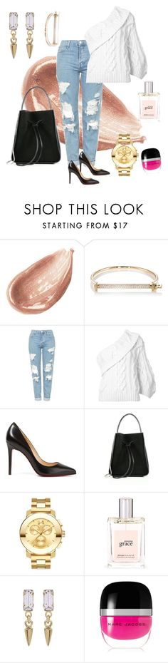 """""""Untitled #74"""" by tammy-stacey ❤ liked on Polyvore featuring Jouer, MIANSAI, Topshop, Rosie Assoulin, Christian Louboutin, 3.1 Phillip Lim, Movado, philosophy, Bing Bang and Marc Jacobs"""