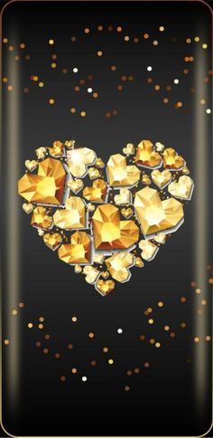 By Artist Unknown. Phone Background Wallpaper, Kawaii Background, Gold Wallpaper, Heart Wallpaper, Wallpaper Backgrounds, Heart Pictures, Wallpaper Iphone Disney, Love Symbols, Pretty Wallpapers