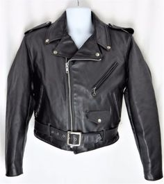 QMUK Western Leather Fringe Motorbike Black Jacket Native American