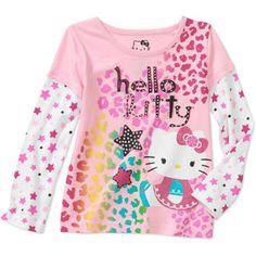 Hello Kitty Baby Girls' Hangdown Star Graphic Tee
