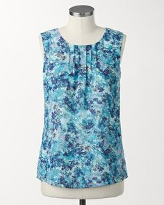 coldwatercreek.com Painted Floral Shell Needs a layering top to make it modest!