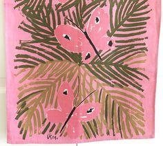 Vintage Vera Tea Towel Pink Butterflies Kitchen Wall Decor Hanging Textile at NeatoKeen on Etsy