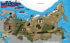 Decorated map of Russia!