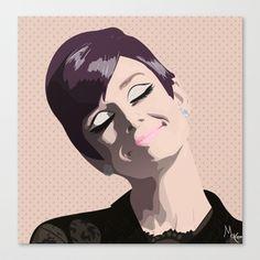 Audrey Hepburn Stretched Canvas by Jaziadeath