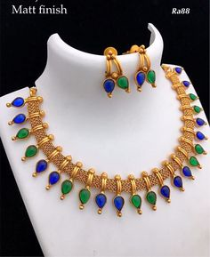 Temple style necklace Booking on 9619291911 . Gold Jewellery Design, Gold Jewelry, Silk Thread Necklace, Gold Models, Jewelry Model, Gold Earrings, Gold Necklace, Necklace Designs, Indian Jewelry