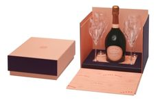 Laurent-Perrier Cuvée Rosé was created four decades ago and is revered by wine-lovers and style-setters throughout the world for its soft salmon-pink colour and delicious, berry-fruit taste. Laurent Perrier, Champagne Brands, Salmon Pink Color, Christmas Gift Sets, Wine Rack, Berries, London, Rose, Packaging