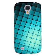 Shiny Turquoise Squares Samsung Galaxy S4 Case #zazzle #samsunggalaxy #samsunggalaxyS4case www.zazzle.com/shabzdesigns