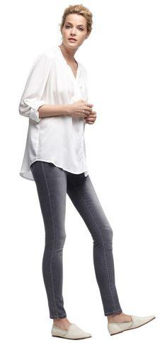 Outfit Femia von OPUS Fashion: Bluse Femia milk, Hose Elma grey