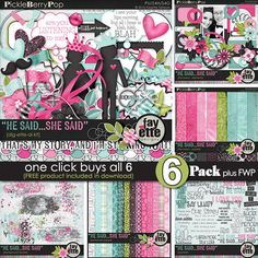 He Said...She Said ~ 6-Pack PLUS FWP by Fayette Designs