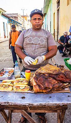 Street food . Cuba