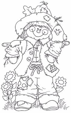 Scarecrow Coloring Pages Printable - Coloring For Kids 2019 Fall Coloring Pages, Adult Coloring Pages, Coloring Pages For Kids, Coloring Books, Free Coloring, Free Colouring Pages, Fall Coloring Sheets, Apple Coloring, Leaf Coloring