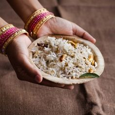Easy Indian Coconut Rice -- fragrant with curry leaves and cashews!
