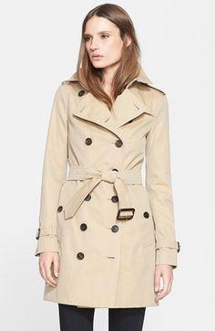 Burberry London 'Sandringham' Slim Trench Coat