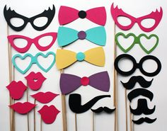 Photo Booth Props  21 Piece  Party Props by BeBopProps on Etsy, $30.00