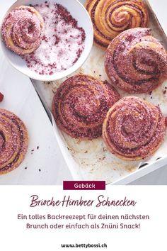 Zimtschnecken sind war für den Herbst oder Winter. Jetzt im Sommer musst du die Beeren Saison geniessen!! Versuch dich unbedingt an dieses hammer Brioche Himbeeren Hefeschnecken Rezept! Muffin, Breakfast, Food, Brioche, Brunch Recipes, Sweet Recipes, Escargot Recipe, Brunch Ideas, Sprinkles