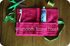 Wash cloth travel pouch-stops the icky-ness of toothbrushes when travelling.