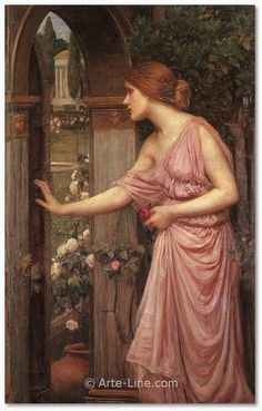John William Waterhouse Psyche Entering Cupids Garden