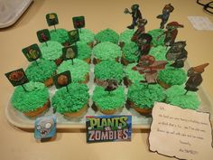 """""""Plants Vs. Zombies"""" - for my brother-in-law's birthday"""