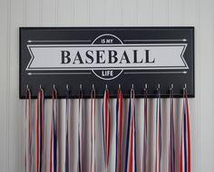 Baseball medal hanger  Baseball is my Life by StrutYourStuffSignCo