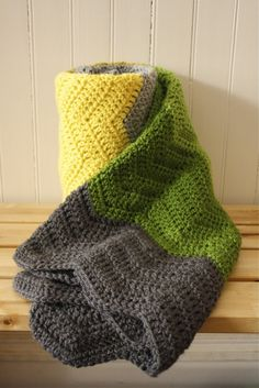 really want to make a chevron afghan, and here's a pattern for it