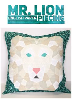 There's something about finishing one of these Violet Craft English Paper Piecing Kits that makes me feel like I'm some very accomplished fine artist. They are so smart and well-crafted… Pillow Inspiration, Hand Quilting, Quilting Ideas, Paper Piecing Patterns, Modern Pillows, Art Gallery Fabrics, English Paper Piecing, Jungle Animals, Quilt Making