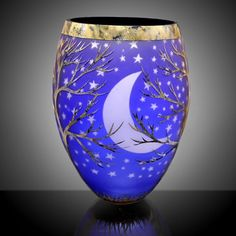 Cold Winter Night, by Duncan McClellan - Pismo Fine Art Glass