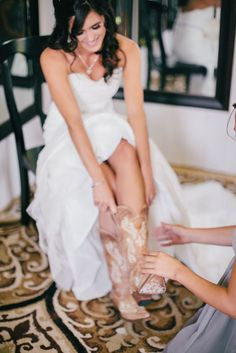 Cowboy Boots for  your Wedding Shoes | Clane Gessel Photography. YES!